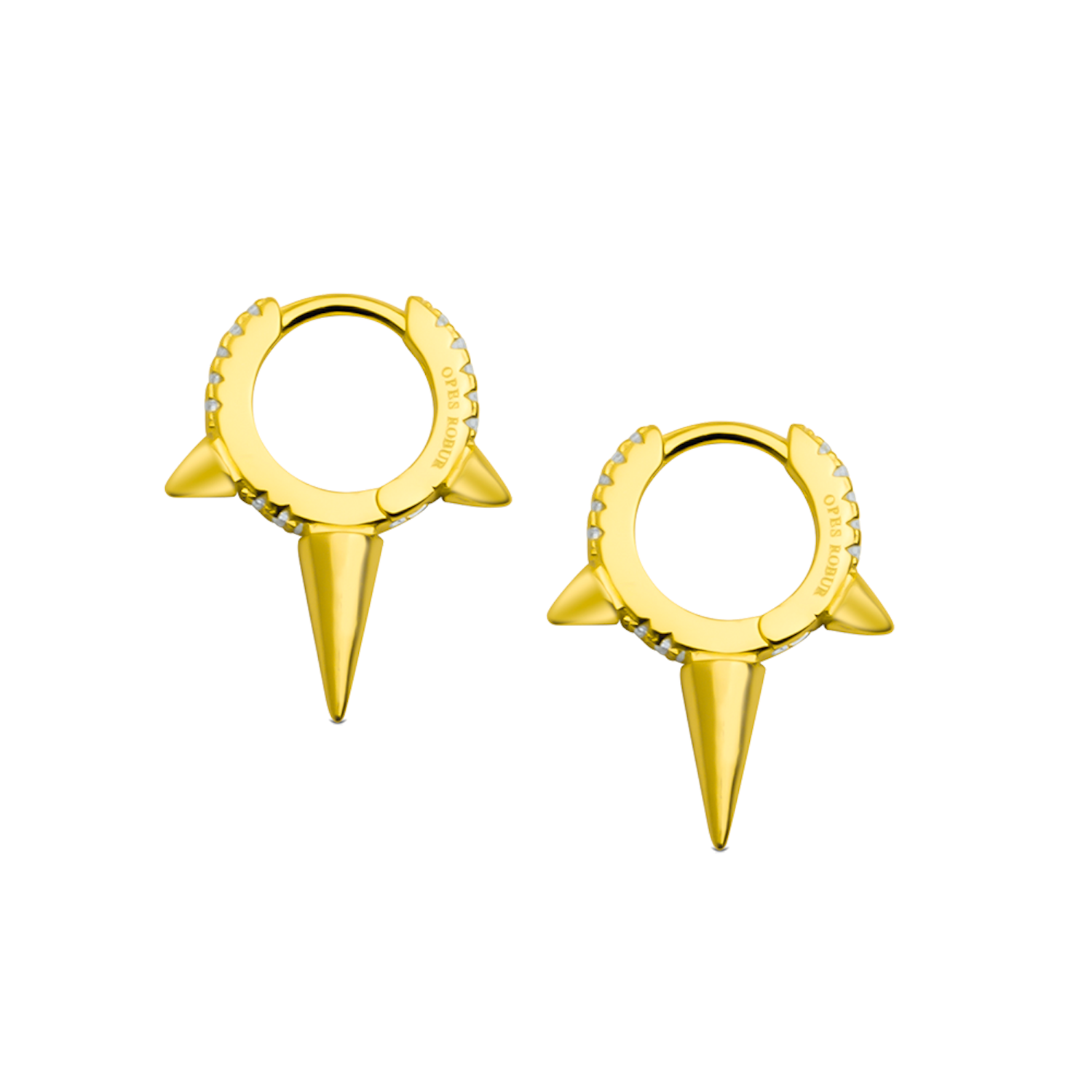 MEDIUM SPIKED HOOPS