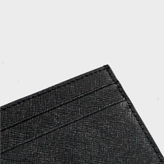 Black Saffiano Leather Cardholder