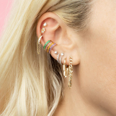 Mini Ear Cuffs - Green