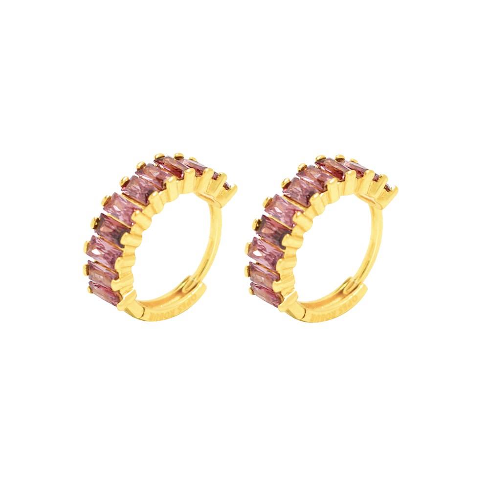 PURPLE ETERNITY HOOPS