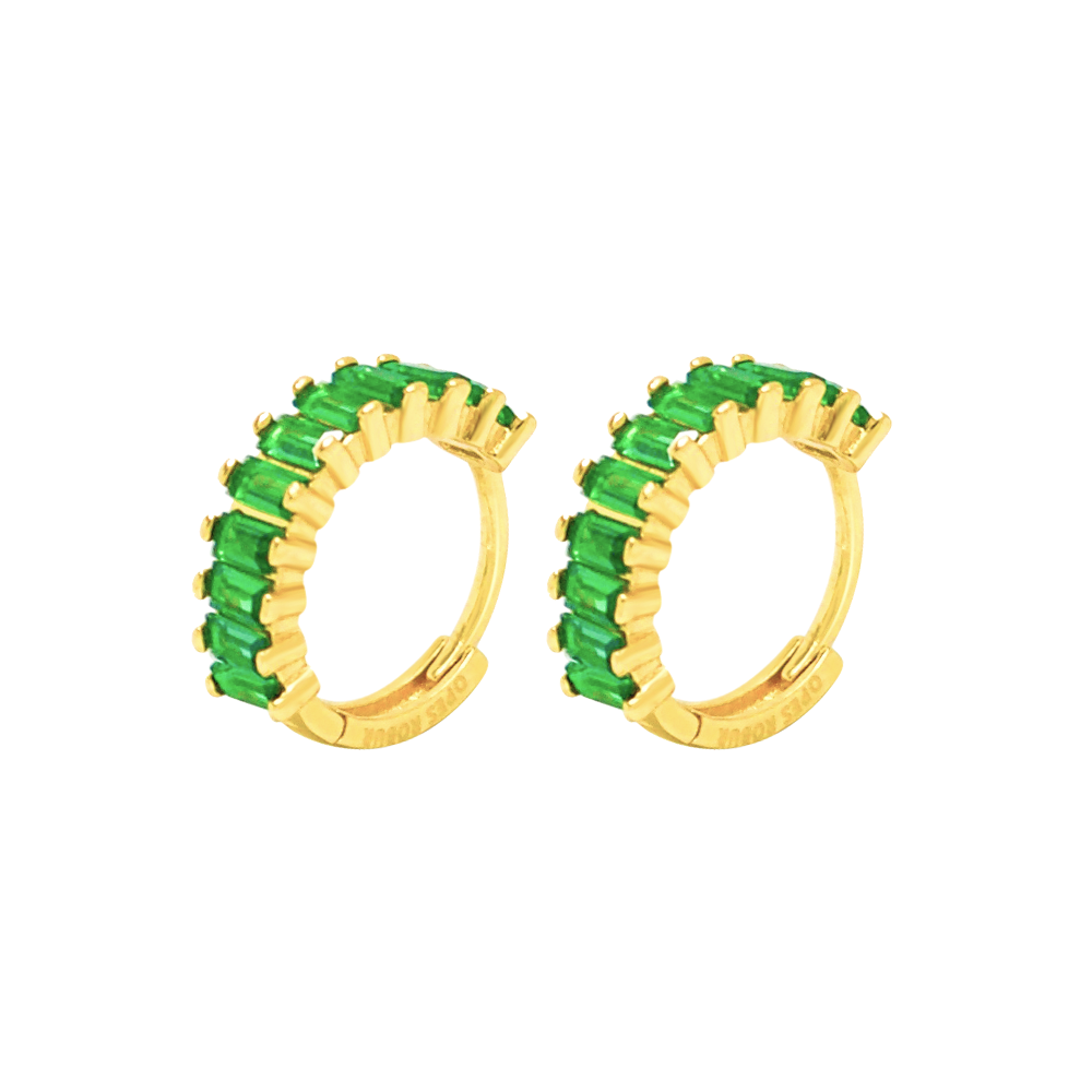 GREEN ETERNITY HOOPS