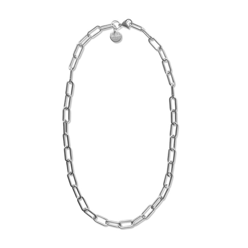 Silver Long Link Cable Chain