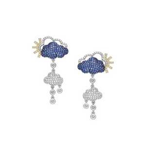 Silver Rain Cloud Earrings - Opes Robur