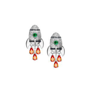 Sterling Silver Mini Rocket Earrings - Opes Robur