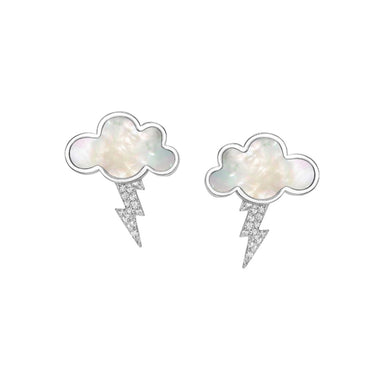 Sterling Silver Thunder Cloud Earrings - Opes Robur
