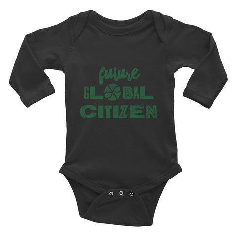 """Future Global Citizen"" Infant Long Sleeve Bodysuit"