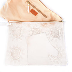 BRBF Amoret Calf Skin Clutch in Neutral - IMC Harper