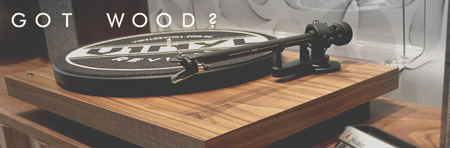 Wooden turntables vinyl revival