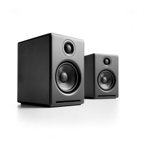 Audioengine 2+ Powered Speakers - Satin Black-Audioengine-Vinyl Revival
