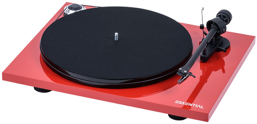Project Essential III Phono Turntable - Red-ProJect Audio Systems-Vinyl Revival
