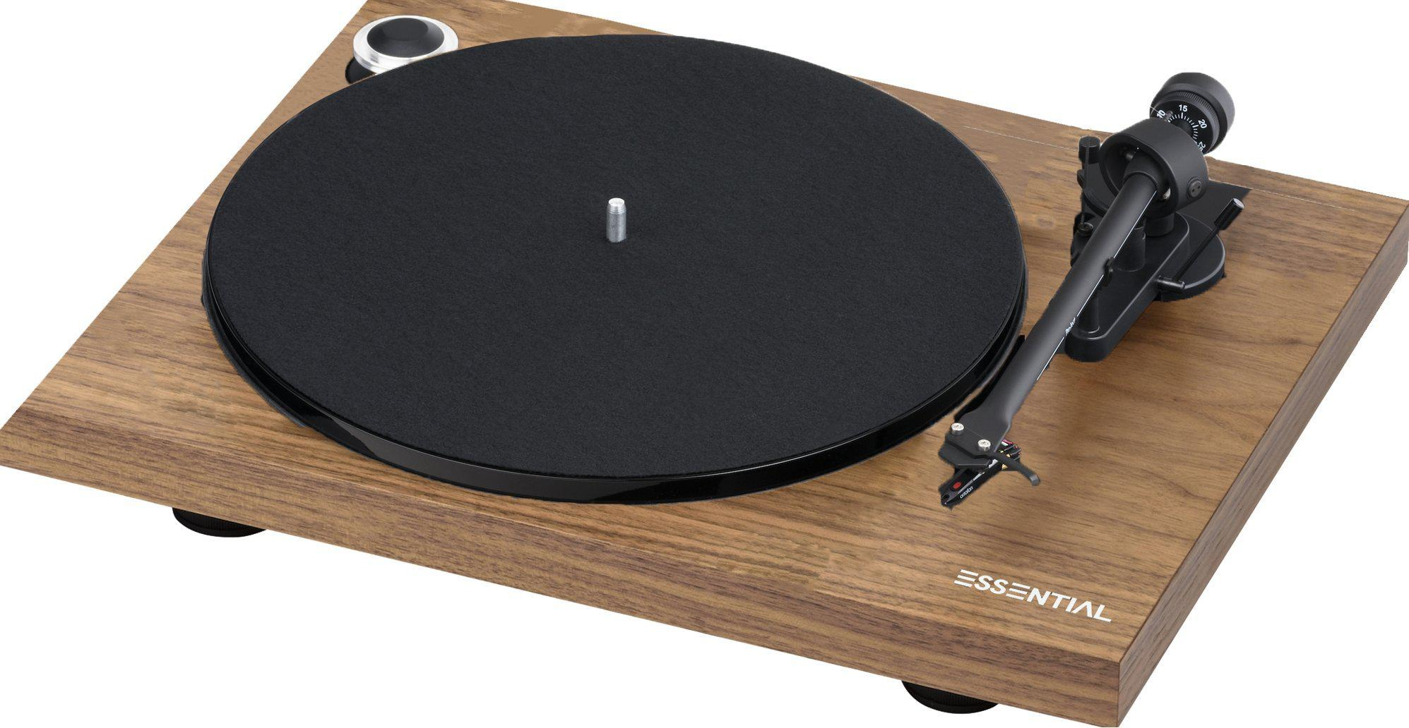 Project Essential III Phono Turntable - Walnut-ProJect Audio Systems-Vinyl Revival