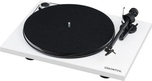 Project Essential III Phono Turntable - White-ProJect Audio Systems-Vinyl Revival