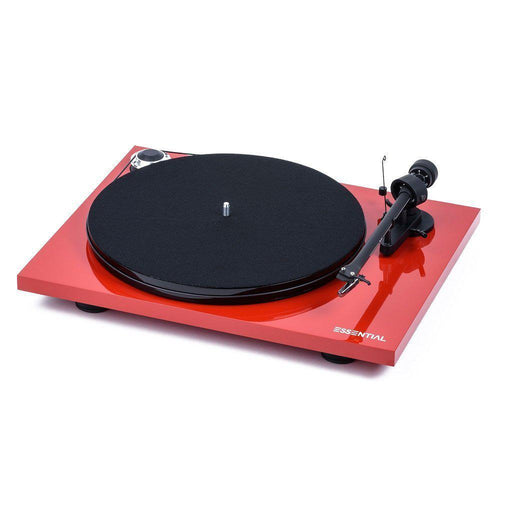 Pro-Ject Essential III Turntable with Ortofon OM10 Cartridge - Red-ProJect Audio Systems-Vinyl Revival