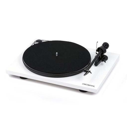 Pro-Ject Essential III Turntable with Ortofon OM10 Cartridge - White-ProJect Audio Systems-Vinyl Revival