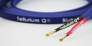 Tellurium Blue Speaker Cable 2x2.5m, Bananas or Spade-Tellurium-Vinyl Revival