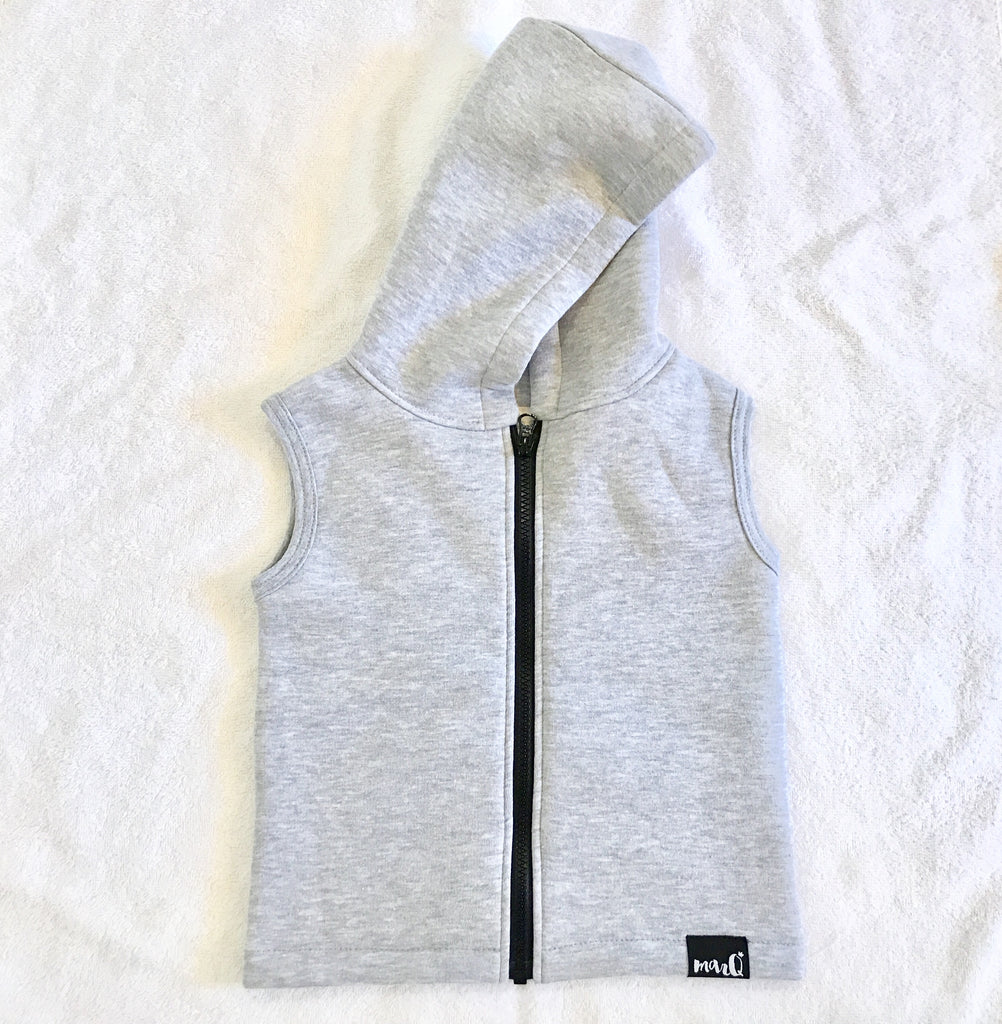 Reign hooded vest heather grey
