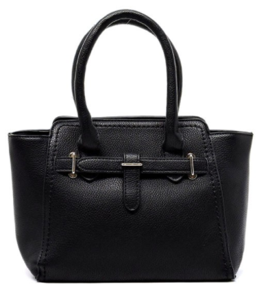 Pebble Texture Satchel in Black