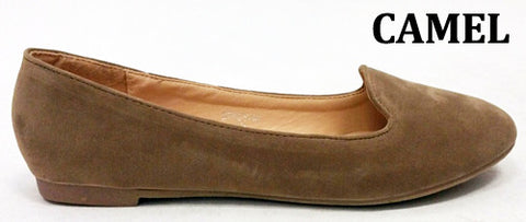 Suede Loafer in Camel