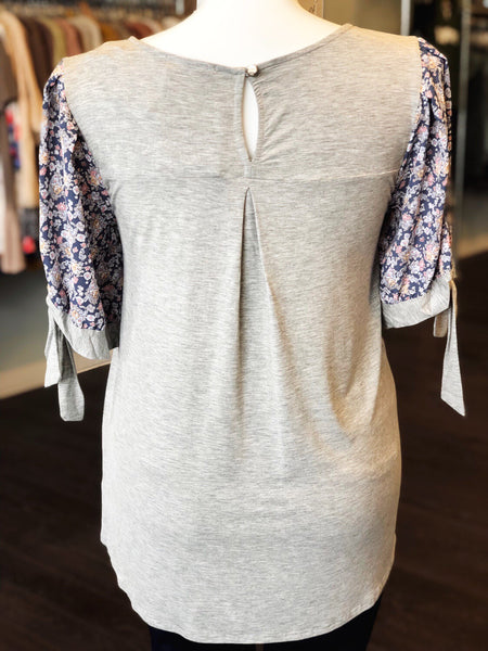 """Kristen"" Floral Sleeve Top"