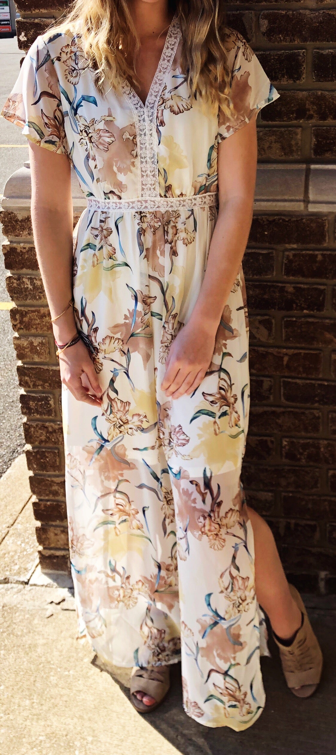"""Daisy"" Floral Maxi Dress"