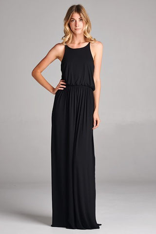 Solid Jersey Maxi Dress (S-3XL)