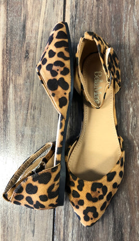 Leopard Suede Flats