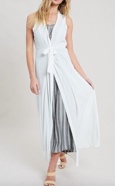 """Madeline"" Sleeveless Duster"