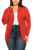 Basic Cardigan (Red or Brown)