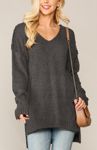 """Miranda"" Side Slit Sweater"