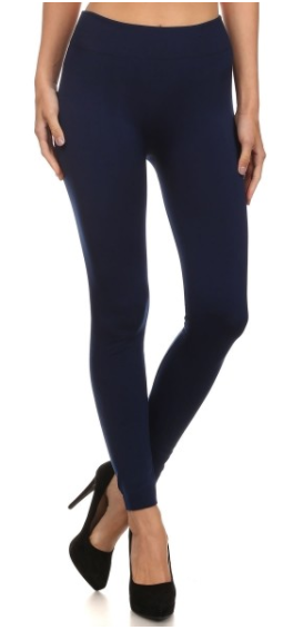 Navy Fleece Lined Legging (One Size & OS Plus)