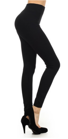 Black Fleece Leggings (1 Size Plus)