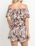 Purple Tropical Romper (S-L)