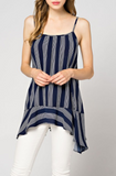 Navy + White Stripe Cami (S-L)