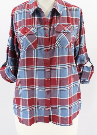 Blue + Red Flannel (1XL-3XL)
