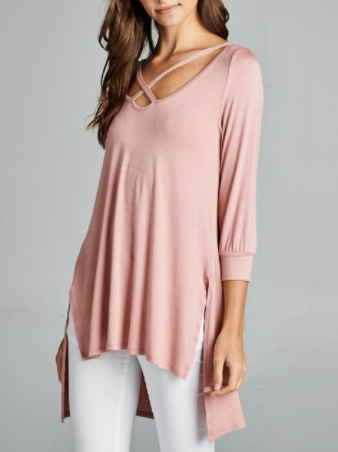 Mauve Hi-Low Tunic (S-3XL)