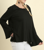 Lace and Ruffle Back Top (S-2XL)