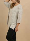 Alex Stone Top with Chest Pocket (XL-2XL)
