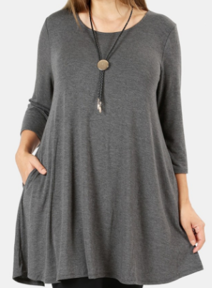 Anna Swing Tunic (1XL-3XL)