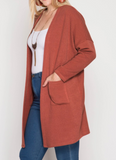 """Rylee"" Front Pocket Cardigan (XL-2XL)"
