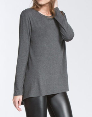 """Marcie"" Long Sleeve Top in Black, Charcoal or Olive (S-L)"