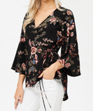 """Teagan"" Wrap Top"