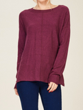 """Rachel"" Plum Sweater"