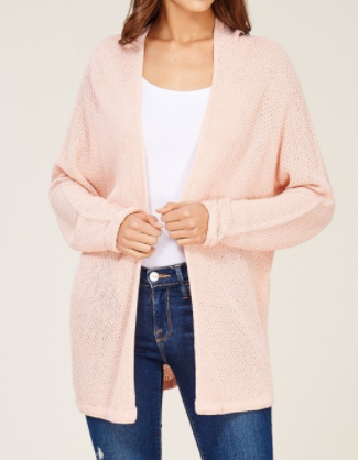 """Paige"" Lightweight Cardigan in Champagne or Grey"