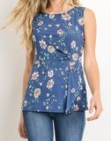 """Valerie"" Floral Knot Tank"