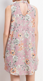 """Sydney"" Floral Mock Neck Dress"
