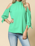 """Stacey"" Cold Shoulder Top"