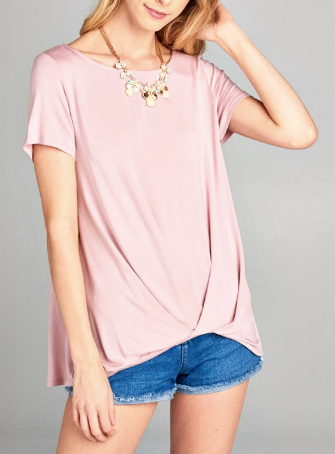 """Sally"" Wrap Hem Top"