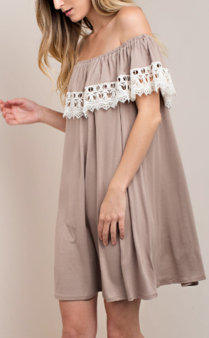 """Kyanne"" Off Shoulder Lace Dress"