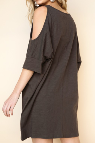 """Piper"" Open Shoulder Dress"