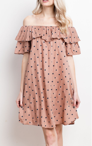 """Madelyn"" Polka Dot Dress"